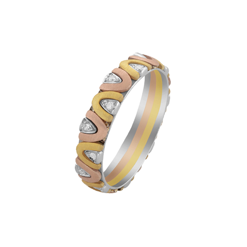 Gold Jewel Rich Trio Ring Hd 069 F Rs 20001 Piece Jewelrich E