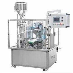 Fully Automatic Rotary Cup Filling And Sealing Machine