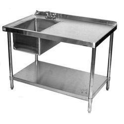 Silver Stainless Steel Tables, Size (Feet): 3 Feet