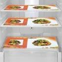 Orange And White Printed Fridge Mats