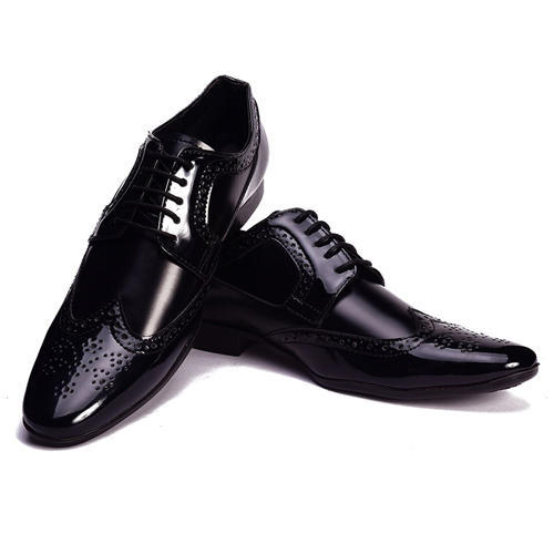 f29b76b745c Peter John Leathers Black Leather Shiny Formal Shoes Size 6 11 Rs