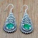 925 Sterling Silver Nice Designer Jewelry Emerald Gemstone Earring We-6019