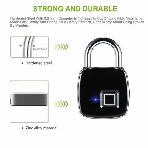 Smart Fingerprint Padlock Safe USB Charging Rechargeable Waterproof Door  Lock