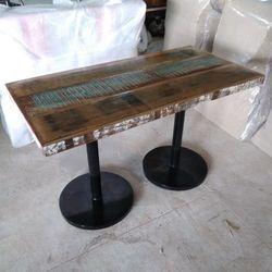 Industrial Cafe Table, Size/Dimension: 180*90*75 Cm