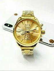Gold Ni Diesel Mens Watch, Model Number: 45658, Gold