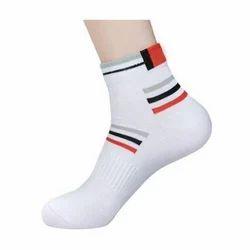 White Cotton Sports Socks