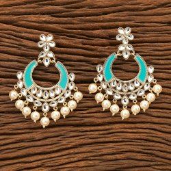 Party Women Indo Western Chand Earring With Gold Plating 8470
