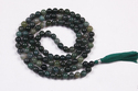 Moss Agate Smooth Mala Beads