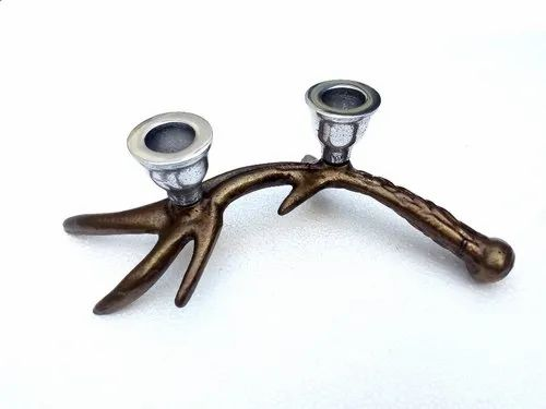 Polished Table Top Metal Antler Candle Holder Size Dimension 10 Inches Id 4569047130