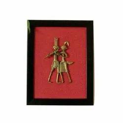Brass Dhokra Radha Krishna, Size/Dimension: 7 Inch X 1.5 Inch X 9 Inch