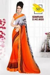 Indian Woman Designer Saree