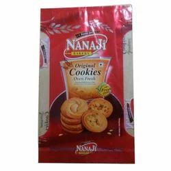 Plastic Printed Cookies Packaging Pouch, Capacity: 150 Gram