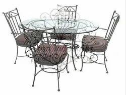 Wrought Iron Table Chair Garden Dining  In Tarun Industries