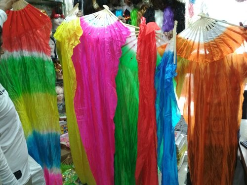 Chinese Cloth Fan Long Prop For Dance-Event