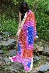 Designer Embroidred bandhani Dupatta