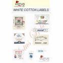 White Cotton Labels