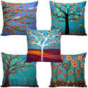 Designer Jute Cushion Cover