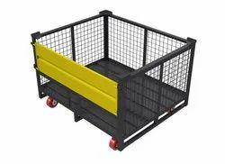 Mild Steel Cage Bin with Castors