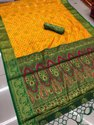 Yellow Silk Weaving Saree With Blouse Piece