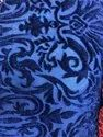 """Poly Jacquread 60"""" Jacquard Knitted Stretch Velvet Tone/ Tone For Carton, Scarves"""
