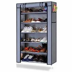 Plastic Collapsible 6 Layer Shoe Rack