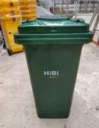 HIBI Wheeled Waste Dust Bin 240 Ltr Plastic