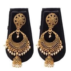 Gold Plated Wedding Afghani Earrings