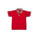 Plain Kids Red Play School Cotton T-shirt