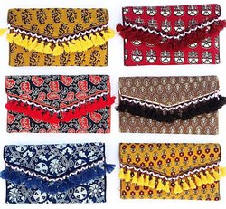 Little India Multicolor Rajasthani Style Mirror Work Hand Bag, Size: 10