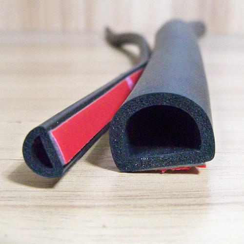 D-Shaped EPDM Sponge Rubber Seals, Size: D-Shaped EPDM | ID