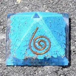 Aslomal Vijay Kumar Copper Metal Mix Blue Turquoise Orgone Pyramid Reiki  Healing Positive
