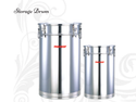 Stainless Steel Storage Drum, For Home, Hotel, Capacity: 30 - 130 Ltr