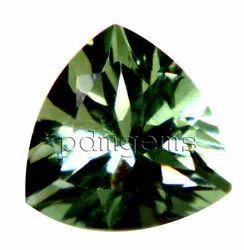Green Amethyst Trillion Gemstone