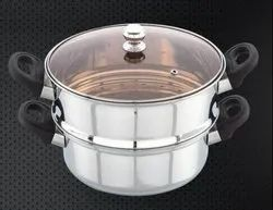 Stainless Steel Steamer Set With Glass Lid