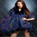 Pure Fine Wool Fur Collar Cape