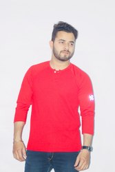 Red 3/4 Sleeve T Shirt