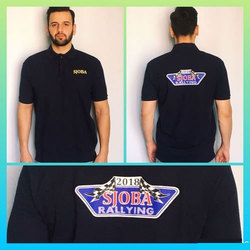 Cotton Men Event Black Polo T-Shirts