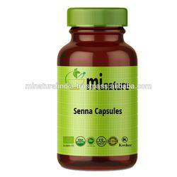 mi nature Senna Powder Herbal Senna Capsules, Quantity Per Pack: 120 Capsules