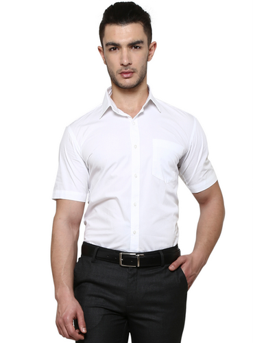 a8115024 38CM-M Formal White Cotton Solid Men Shirt, Rs 995 /piece   ID ...