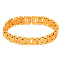 Bracelet Gold Plated Link Design