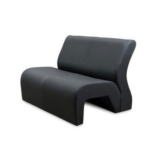 Black 2 Seater Office Sofa