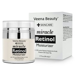 Veena Beauty Miracle Retinol Moisturizing Cream, Pack Size: 1.7 Fl Oz (50 Ml) for Skin Care