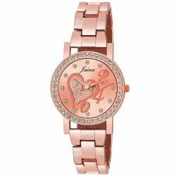 Jainx Rose Gold Analog Watch for Women & Girls JW606