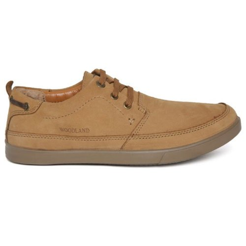 Casual Wear Lace Up Woodland Mens Brown Leather Casual Shoes, Size: 6-7 Also Available 7-10