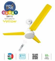 INNO ONE Glory Yellow BLDC Ceiling Fan, Power: Available In 28 W, Sweep Size: Available In 1200 mm
