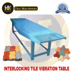 Interlocking tile vibration machine
