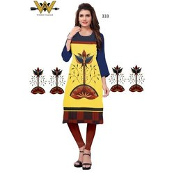 Trendy Wear Digital  Printed Crepe Kurti