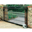 Black Stainless Steel Sliding Gate, For Commercial