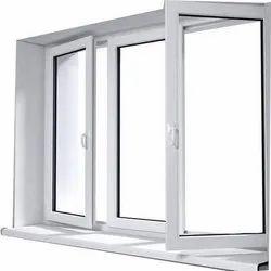 Upvc With Gl Folding White Windows