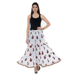 Cotton Jaipuri Printed Skirts